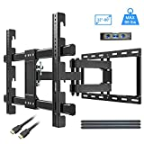 KDG TV Wall Mount, Full Motion Wall Mount TV Bracket for 32-80 Inch Flat Screen LED, LCD TVs, Swivel Extension Tilt Wall Mount TV with Dual Arms, Max VESA 600x400mm(24'x16') up to 99 LBS