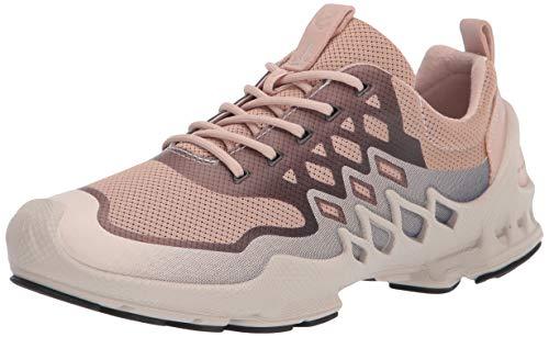 ECCO Women's Biom AEX Trainer Running Shoe, Rose Dust/Marine Textile, 6-6.5
