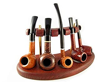 Fashion New Wooden Pipe Stand Rack Holder for Tobacco Smoking Pipes Handcrafted  For 5