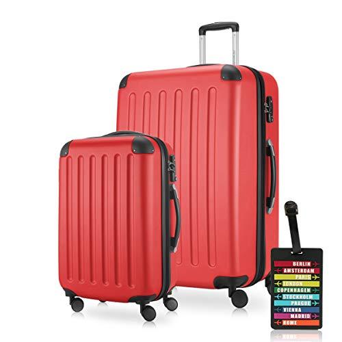 Hauptstadtkoffer Set de bagage, rouge (Rouge) - HK1203-RED-49+128