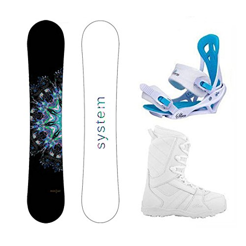 System Package MTNW Women's Snowboard-147 cm-Siren Mystic Bindings-Siren Lux Women's Snowboard Boots-9