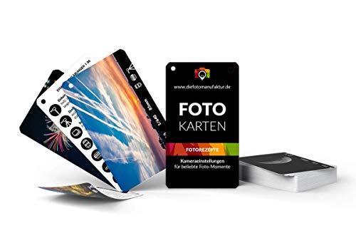 Fotokarten Fotorezepte - Kameraeinstellungen für 20 FotoMotive - Spickzettel für Fotografen - Checkkarte Spicker Fotografie
