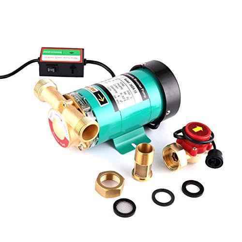 SHYLIYU Bombas de presion automaticas Bomba de refuerzo Bomba de agua caliente con interruptor de flujo de agua de laton para el hogar/ducha Lavadora 1\ 120W 25l / min