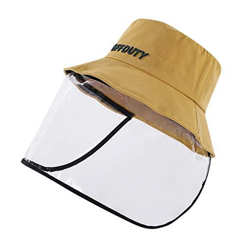 BaZhaHei Mujer Dama Anti-Escupir Sombrero Protector Cubierta A Prueba de Polvo Adulto...