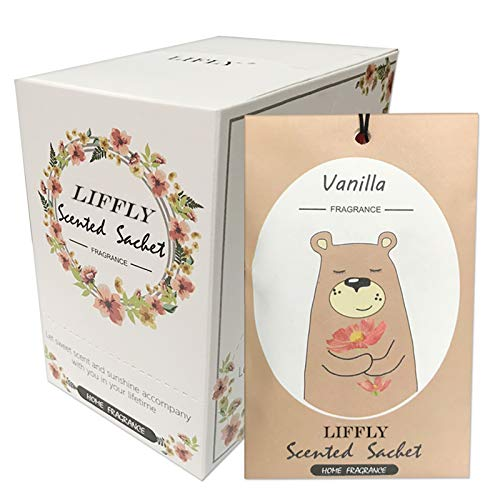 LIFFLY 14 Packs Vanilla Scented Sachets for Drawers and Closets