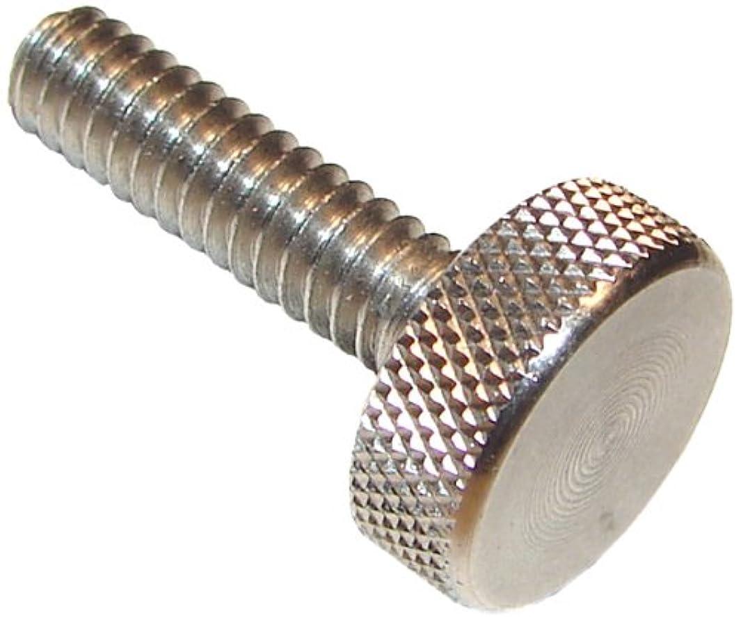 303 Stainless Steel Thumb Screw, Plain Finish, Knurled Head, 1
