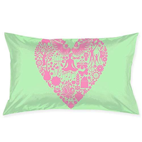 gong Funda de Almohada 20'X30 Fundas de Almohada Yoga Valentine Funda de Almohada Funda de cojín estándar para decoración de sofá Dormitor
