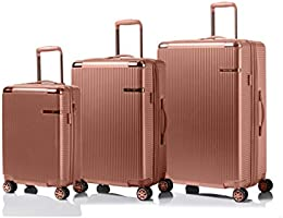CHAMPS 'Legacy Collection' 3-Piece Expandable HARDSIDE Spinner Luggage Set (Rose Gold)