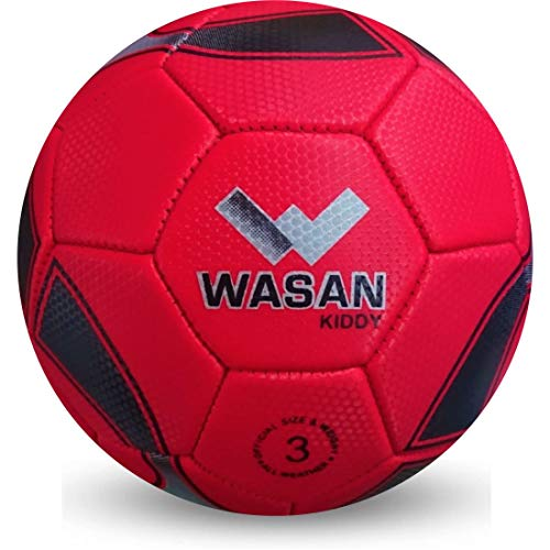 Wasan Kiddy Football for Kids Upto 6 Years to Play at Home/Garden - Red and Black, Size 3