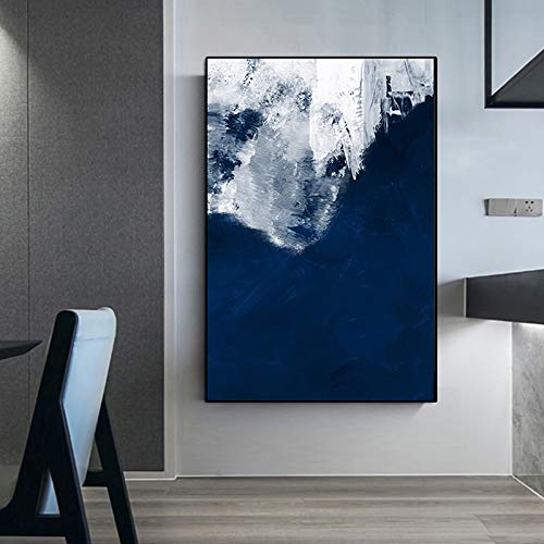 HGlSG Canvas Painting Nordic Style Poster Modern Abstract Oil Prints Ocean Wall Pictures for Living Room Quadro Home Decor A3 60x90cm