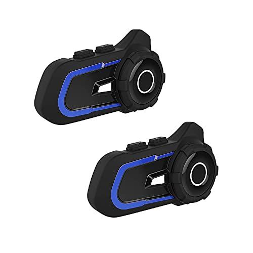 Auriculares Bluetooth de la motocicleta con función de intercambio de música Micrófono Silencio fabricación y recepción de llamadas Música de reproducción, modulación de radiofrecuencia, Casco Walkie-
