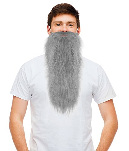 Grey Fake Dwarf Beard Gray ZZ Beard Gnome Beard Prospector Hillbilly Beard