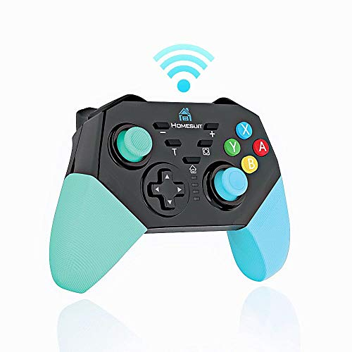 Homesuit Wireless Controller for Nintendo Switch Switch Lite,RC Pro Controller Gamepad Joystick for Nintendo Switch Console, Supports Gyro Axis,Turbo and Dual Shock for Nintendo Switch Pro Controller