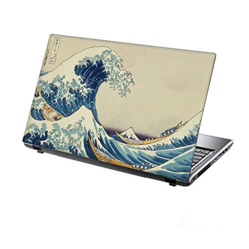 """TaylorHe 13-14"""" Autocollants en Vinyle coloré avec Motif pour Ordinateur Portable (34cm x 23,5cm) Laptop Skin grandes vagues de Kanagawa, classique"""