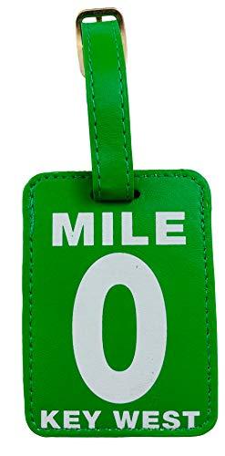 Mile 0 Luggage Tag Key West Florida Souvenir 6 1/2 Inches Long