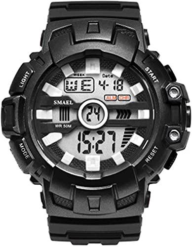 Reloj NLRHH Eventos Deportivos Deportes al Aire Libre Impermeable y a Prueba de Golpes Pantalla electrónica Individual Reloj Peng Student para Hombres (Color: E)-re