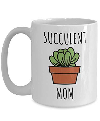 N\A Taza de mamá suculenta Taza de café Regalo de Planta de Amante suculenta