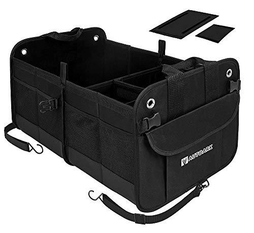 Autoark Multipurpose Car SUV Trunk Organizer,Durable Collapsible Adjustable Compartments Cargo Storage,AK-042