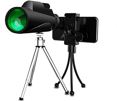Telescopio portátil con Zoom de Doble Enfoque Impermeable a Prueba de Niebla para observación de Aves, telescopio monocular con visión Nocturna, al Aire Libre, Camping, Caza, conciertos (Adaptador de