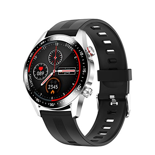 FMSBSC Smartwatch Mujer Reloj Inteligente Elegante Llamada Bluetooth Soporte para Hacer/contestar Llamadas telefónicas, Monitor de Sueño Pulsómetros, Modos Deportivos Fitness Tracker,Plata