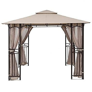MASTERCANOPY 10' x 10' Mosquito Netting Screen walls for 10'x 10' Gazebo Canopy(Only Screen walls)