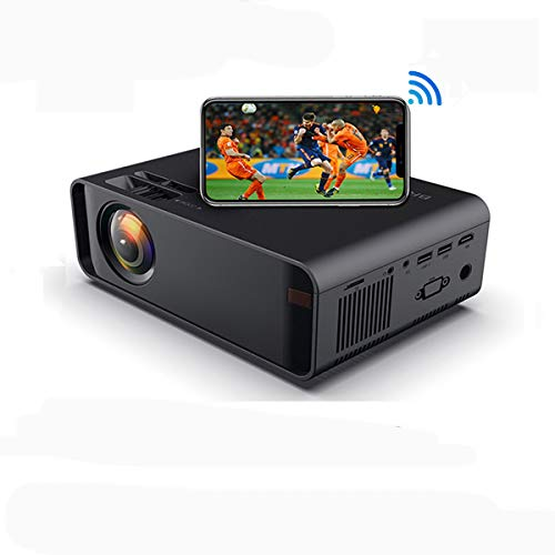 SOTEFE Mini LED Proyector Portable 4500 Lumens - WiFi Proyector Portátil Full HD 1080P Video Multimedia Para iPhone Samsung Sony Hauwei Smartphone Compatible con HDMI USB Tarjeta SD VGA AV TV Box PS4