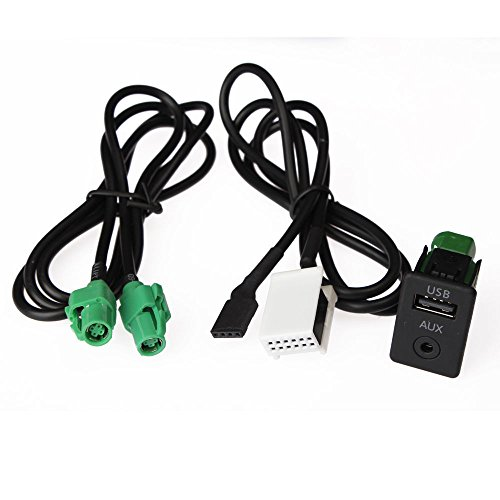 Auto USB interfaccia adattatore AUX IN input switch + filo per BMW X5 X6 E87 E90 E91 E92 3 5 Series