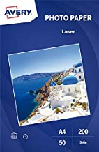 Avery Satin Photo Paper, Laser Printer, Superior, 200g/sq m, White, 50 Sheets per Pack