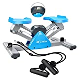 Afully Mini Stair Stepper for Exercise Fitness Stair Stepper with Resistance Bands and LCD Monitor (Q1)