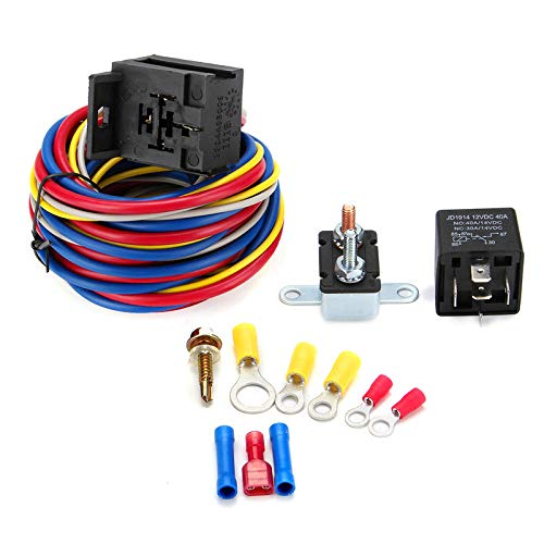 Electric Cooling Fan Relay Wiring Fresno Mall Circuit 55% OFF Kit Br Harness