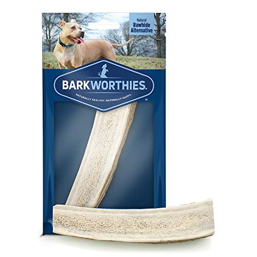 Barkworthies Hand Selected Naturally Shed Small Split Elk Antler (Single Antler) - Long Lasting, Odor Free Dog Chew for Puppies & Small Dogs - No Chemical Treatments, No Added Preservatives