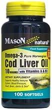 MASON NATURAL, COD Liver Oil 10 MINIMS