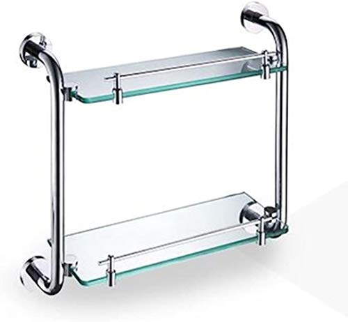 Sale!! Bathroom shelf Double Storey Bedroom Bathroom Closet Simple and Practical Stainless Steel LIT...