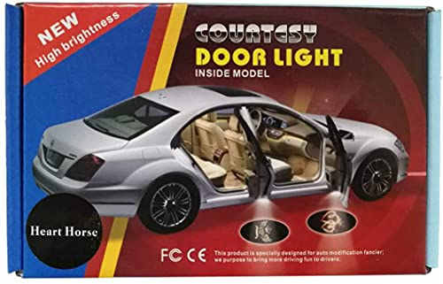 HEARTHORSE LED カーテシランプ 欧米車系列図柄 (炭素繊維(第二代) 072 ポルシェ)