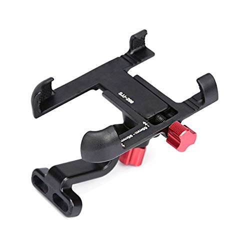 Bike rack Aluminum Alloy Bicycle Mobile Phone Holder Adjustable Bicycle Mobile Phone Holder Anti-skid Mountain Bike Mobile Phone Holder Riding Accessories Bicycle phone holder ( Color : 299B Black )