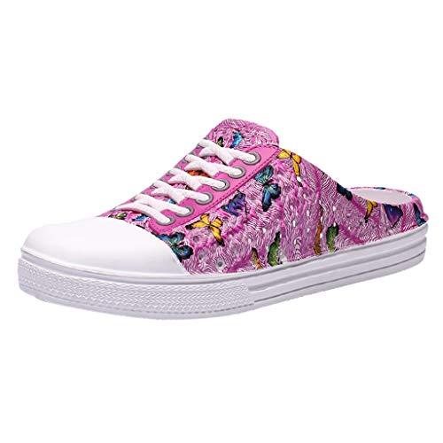 Clogs Schuhe für Damen/Dorical Frauen Hohl Gartenschuhe rutschfest Hausschuhe Sandalen Badeschuhe Strand Aqua Slippers Pantoletten Sommer Hausschuhe Ausverkauf(Z1-Rosa,40 EU)