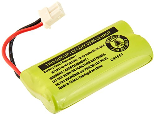 Batería de repuesto BT183342 / BT283342 para Vtech AT&T Teléfonos inalámbricos CS6114 CS6419 CS6719 EL52300 CL80111, 1-paqu