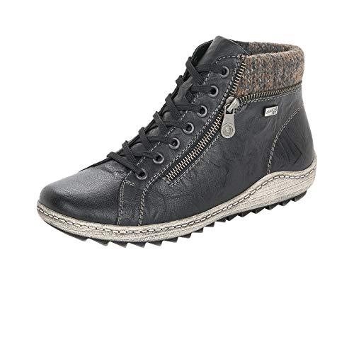 Remonte Damen R1473 Mode-Stiefel, schwarz/schwarz/Graphit / 01, 39 EU