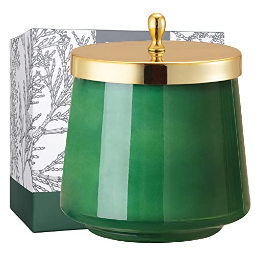 LA JOLIE MUSE Cedar & Balsam Scented Candle for Home, Holiday Candle Gift, 75 Hours Long Burning, 12.3 Oz