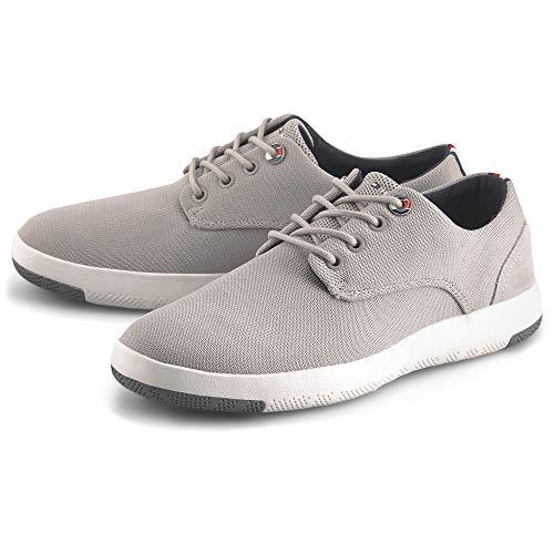 Tommy Hilfiger Herren Lightweight Textile LACE UP Shoe Mokassin, Beige (Stone Aep), 43 EU