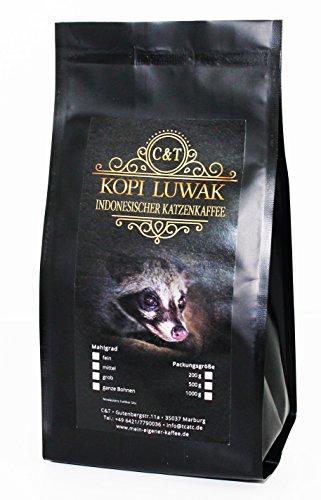 Kaffee Katzenkaffee Kopi Luwak Arabica (Von Freilebenden Tieren) Als Ganze Bohne (500 g)