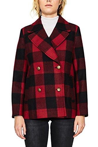 Esprit 097EE1G035 Abrigo, Multicolor (Dark Red 610), 40 para Mujer