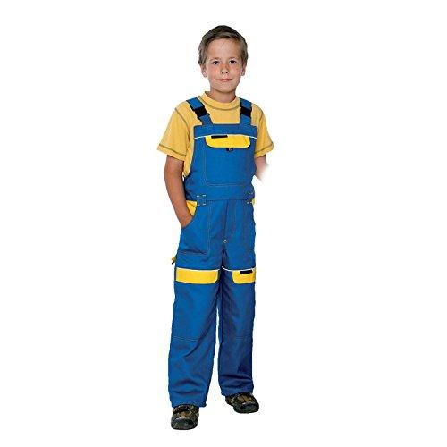 Arbeitshose Latzhose Kinder Arbeitslatzhose Kinderhose Kinderlatzhose (COOL KID-GELB) (134 cm)