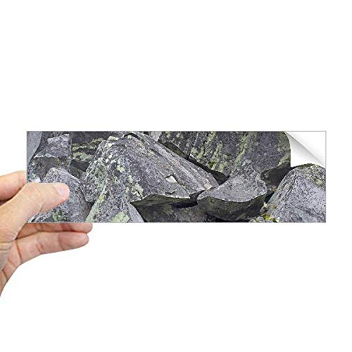 DIYthinker donkere stenen stukjes behang crackles mos rechthoek bumper sticker Notebook venster sticker