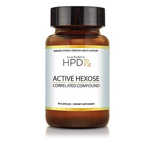 HPD Rx Active Hexose Correlated Compound, 1100mg Shiitake Mushroom Supplement, Natural Immune System Support for Men and Women, 90 Veggie Capsules
