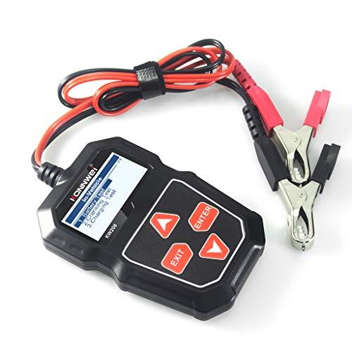 KLG KW208 Comprobador De Resistencia De Batería De Coche, KW208 Comprobador De Batería De Coche Analizador De Cargador 12V 100-2000CCA Prueba De Sistema De Carga Comprobador De Capacidad De Automotriz