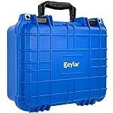 Eylar Tactical Hard Gun Case Water & Shock Proof with Foam 13.37 inch 11.62 inch 6 inch Blue