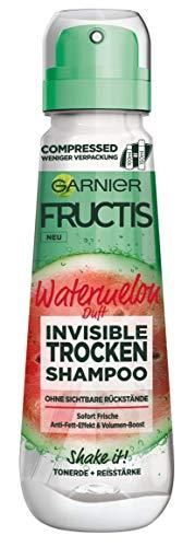 Garnier Fructis Invisible Trockenshampoo gegen platte, fettige Haare mit Volumen-Boost, frischer Wassermelonenduft, Watermelon, 100 ml