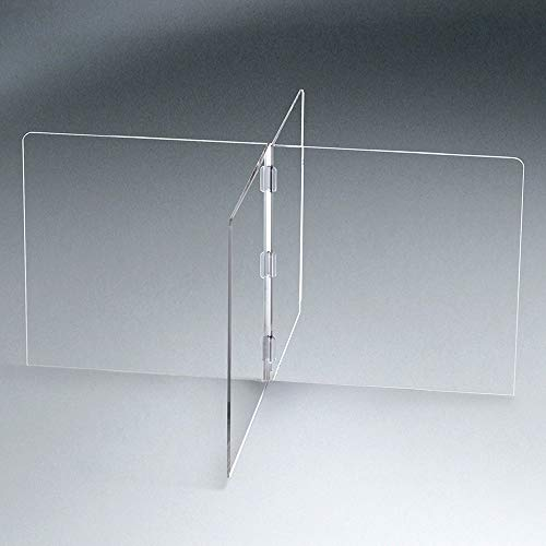 Vergo 4-Person Table Top Plexiglass Sneeze Guard Divider Acrylic Shield Barrier Partition for Conference Tables (45' W)