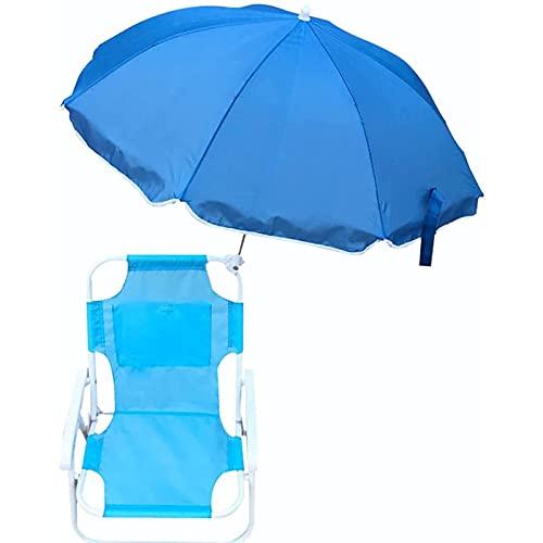 GYYG Sillas de Playa y sombrillas para niños, con Bolsa de Transporte,...